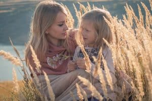 Mom And Daughter At Grasslands