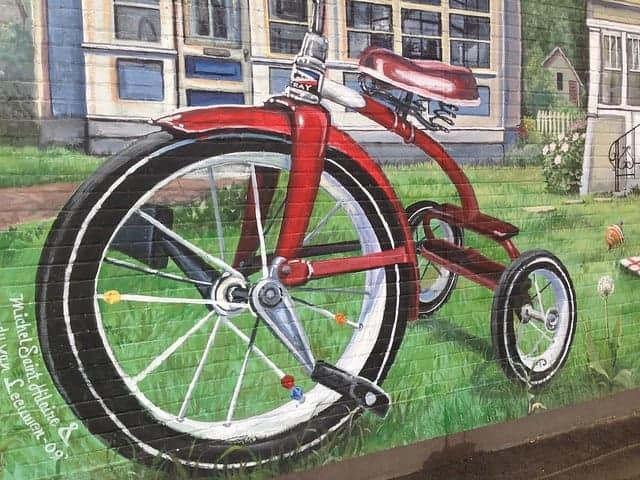 bicycle with big one wheel