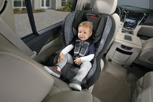 Baby using a Britax Car Seat
