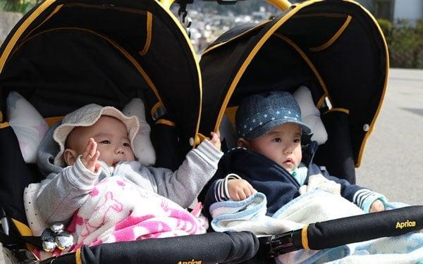twins boy girls stroller
