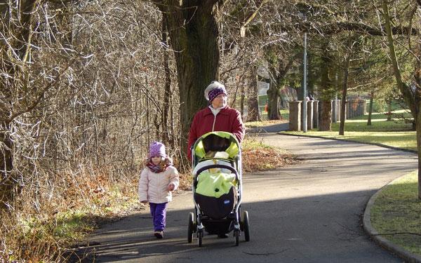 walk grandma adelka baby girl