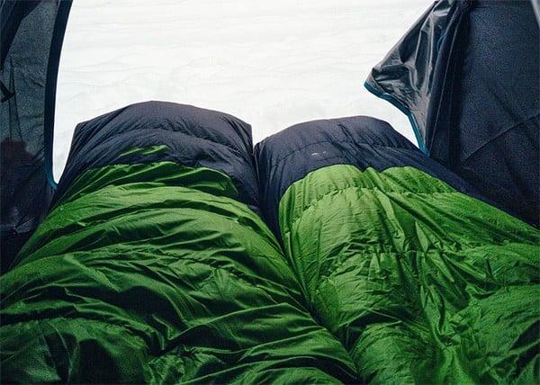 green sleeping bags