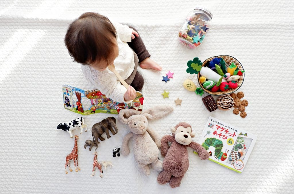 Baby Palying with Toys