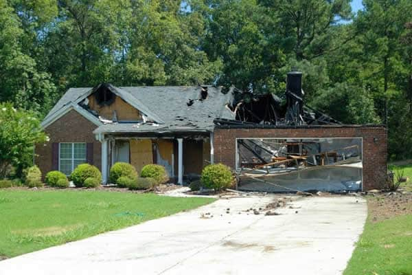 House destructed by fire