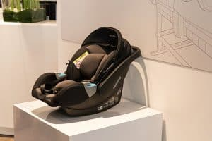 Recaro convertible Car Seat on display