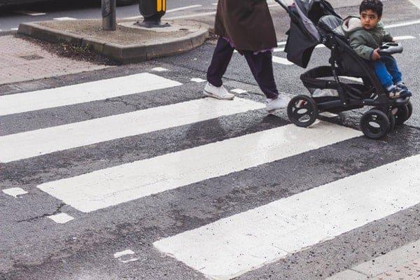 adorable child on stroller
