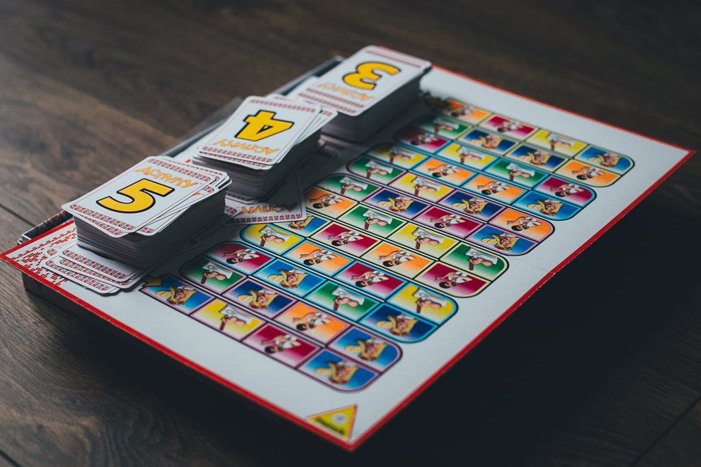 Board games for toddlers on the ground