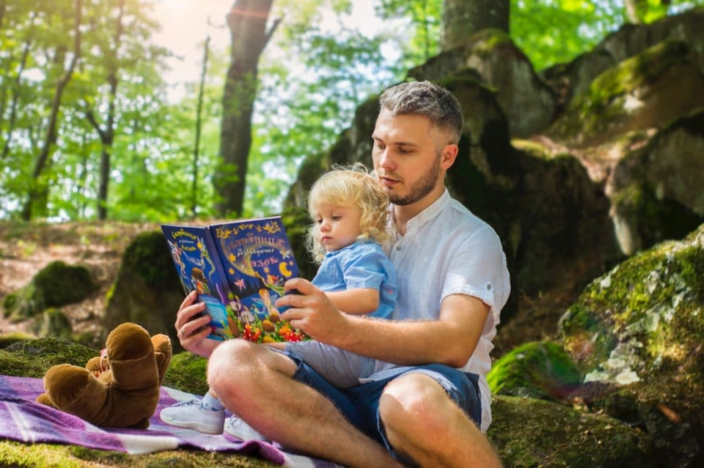 Father and Daugther Reading Book