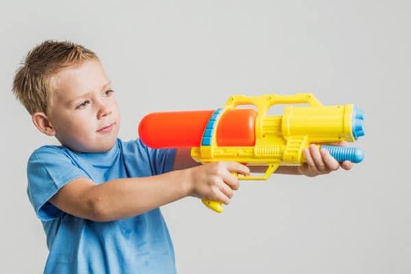 Kid with water Gun
