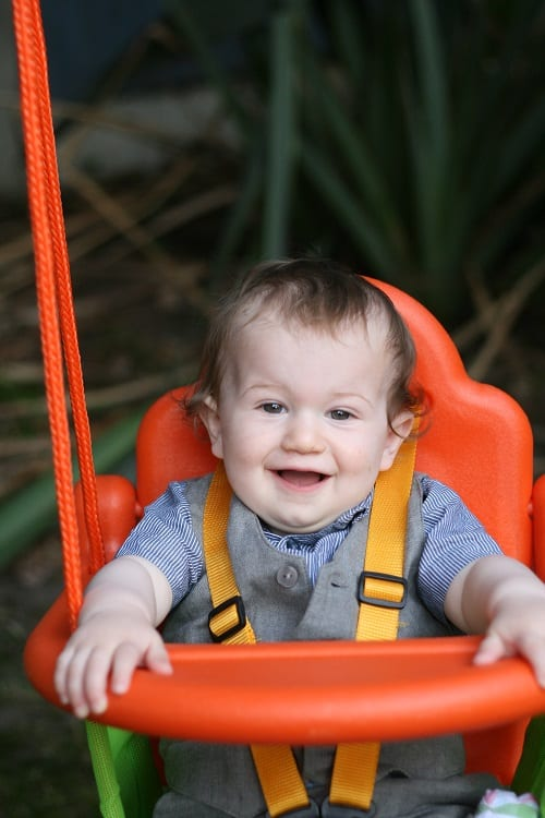baby orange swing