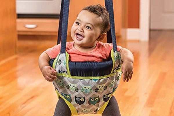 Evenflo Exersaucer Door Jumper Adjustable Baby Bouncer Doorway Fun Swing Jump Seat Owl 100% Kids Safety, StrongQuality ProductsFast Shipping