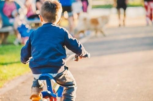 kids wearing blue jacket