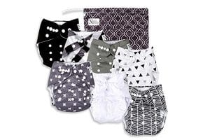 Unisex Baby Cloth Pocket Diapers 7 Pack