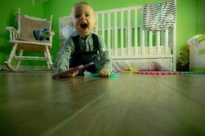 Toddler Siiting on floor