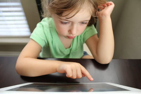 Child Playing Tablet