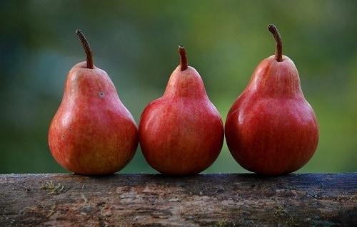 three red pear