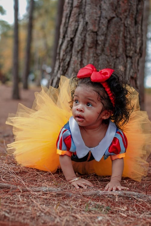 baby crawling with costumes