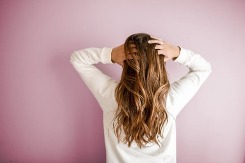 brown hair backview
