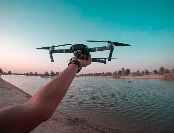 Person Holding A Drone