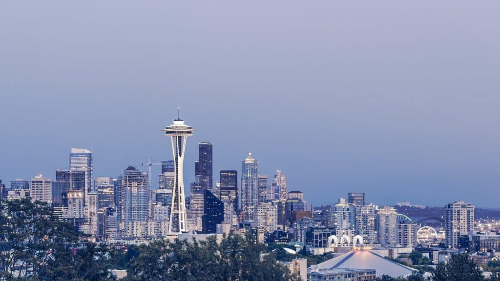The Seattle skyline, which you can see with various family travel packages