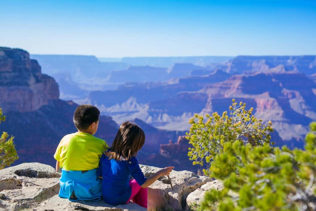 Kids enjoying one of many family travel packages at the Grand Canyon